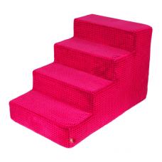 Velké schody pro psa - růžové